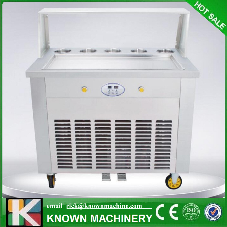 KN-1D5B Factory Price Fried/Fry Ice Cream Maker/making Roll/roller Machine With R410A Refrigerant