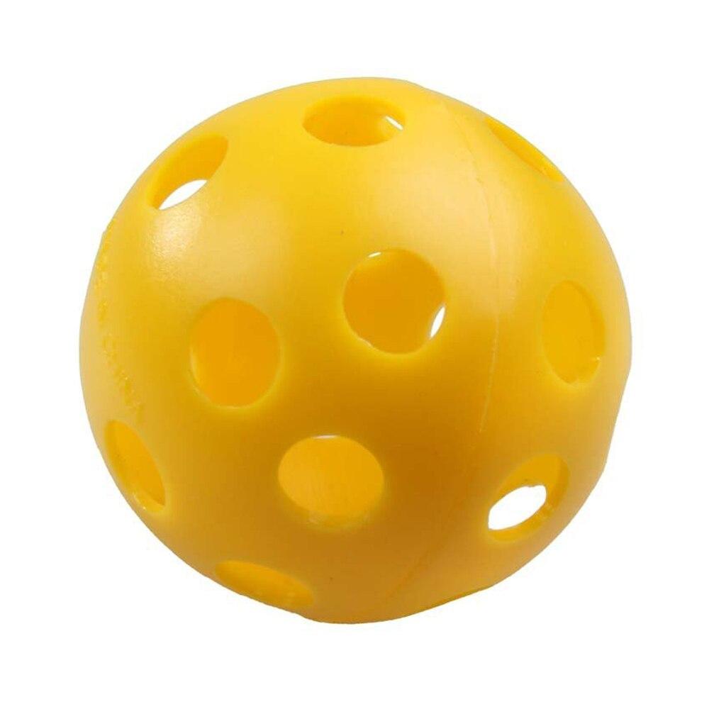 12 x Plastic Whiffle Airflow Hollow Golf Practice Training Sports Balls
