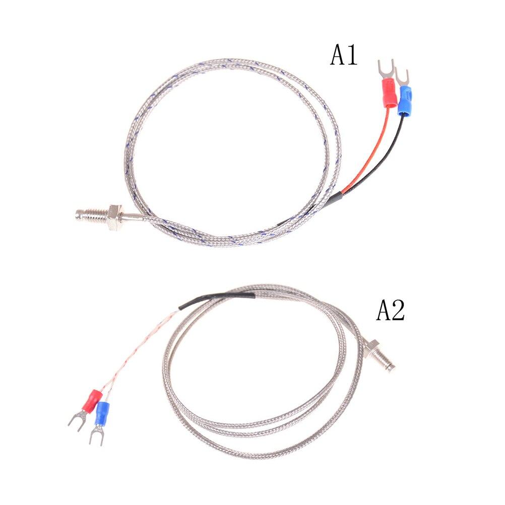 Провод K Тип термопары регулятор температуры M6 Винт зонд K Тип термопары 0,5 м/1 м промышленный датчик температуры кабель
