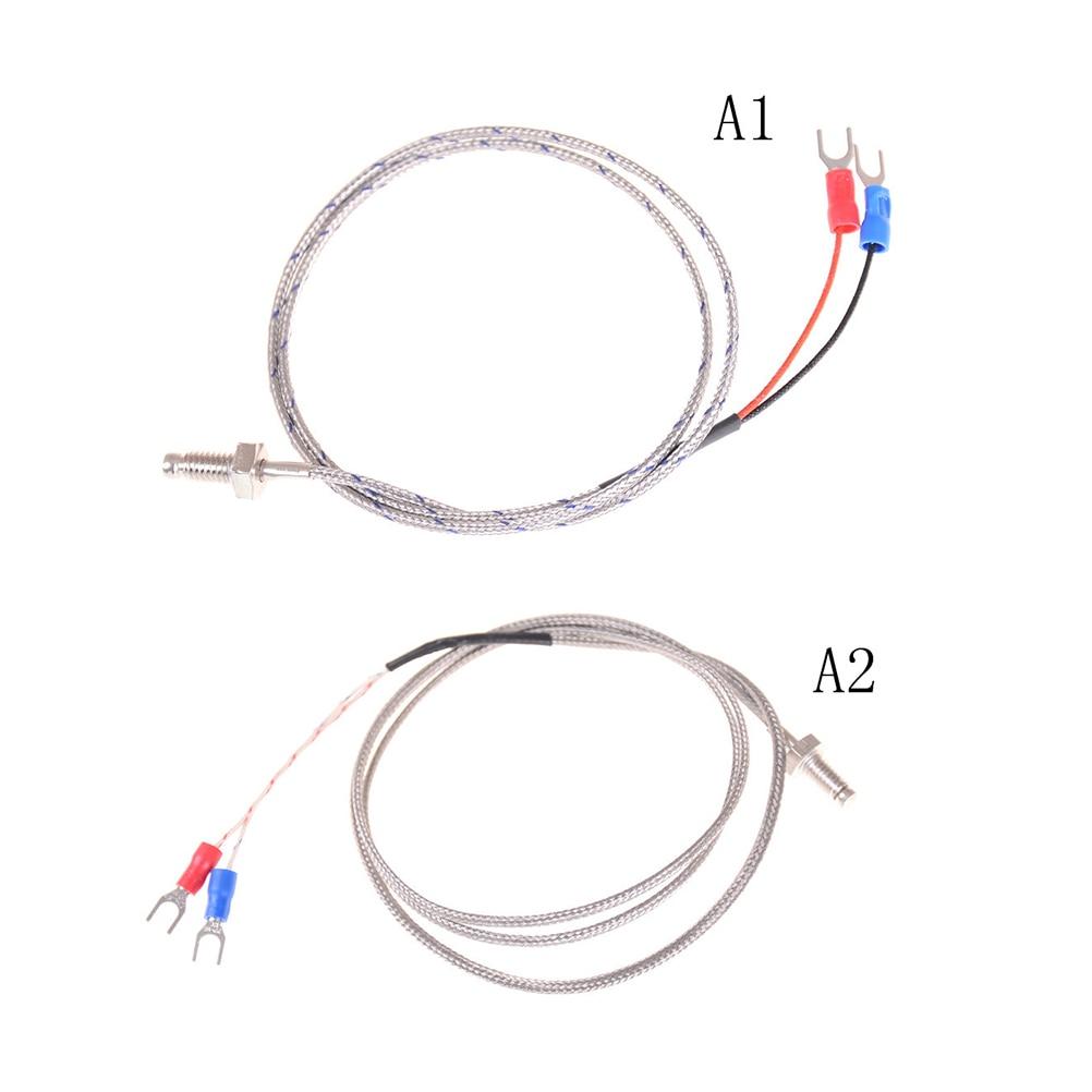 m6 screw probe k type thermocouple 0 5m   1m industrial temperature sensor cable wire k type