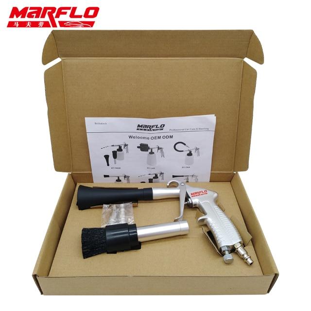 Marflo רכב מכונת כביסה כלים Tornador Forge Alu טורנדו צינור סוג ניקוי רכב חדר Europ יפן אמריקאי מתאמים