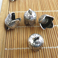 20pcs Antique Silver Bell Shaped End Cap Beads Fit 10mm Round Leather Cord