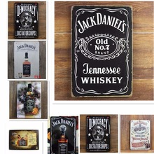 Jack Daniel Old NO 7 Brand Jennessee Whiskey Vintage Home Decor 20*30 cm Shabby Chic Metal Sign Bar Cafe Pub Tin Sign Wall Decor