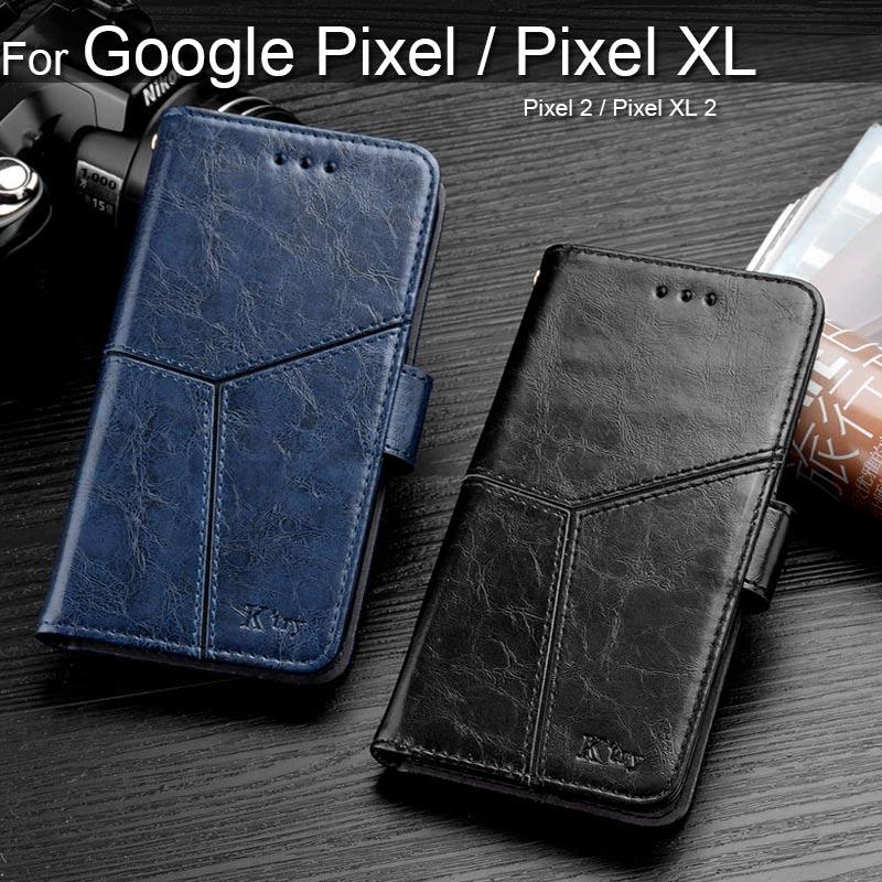 Flip Leather Phone Case For Google Pixel XL 2 Cover K Style Vintage Business Design Coque For Google Pixel 2 Fundas Capa