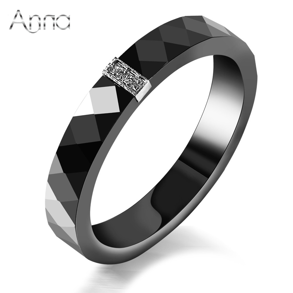 an women ceramic rings black wedding rings graduated gifts christmas gift anniversary present simple black fashion - Black Wedding Rings For Women