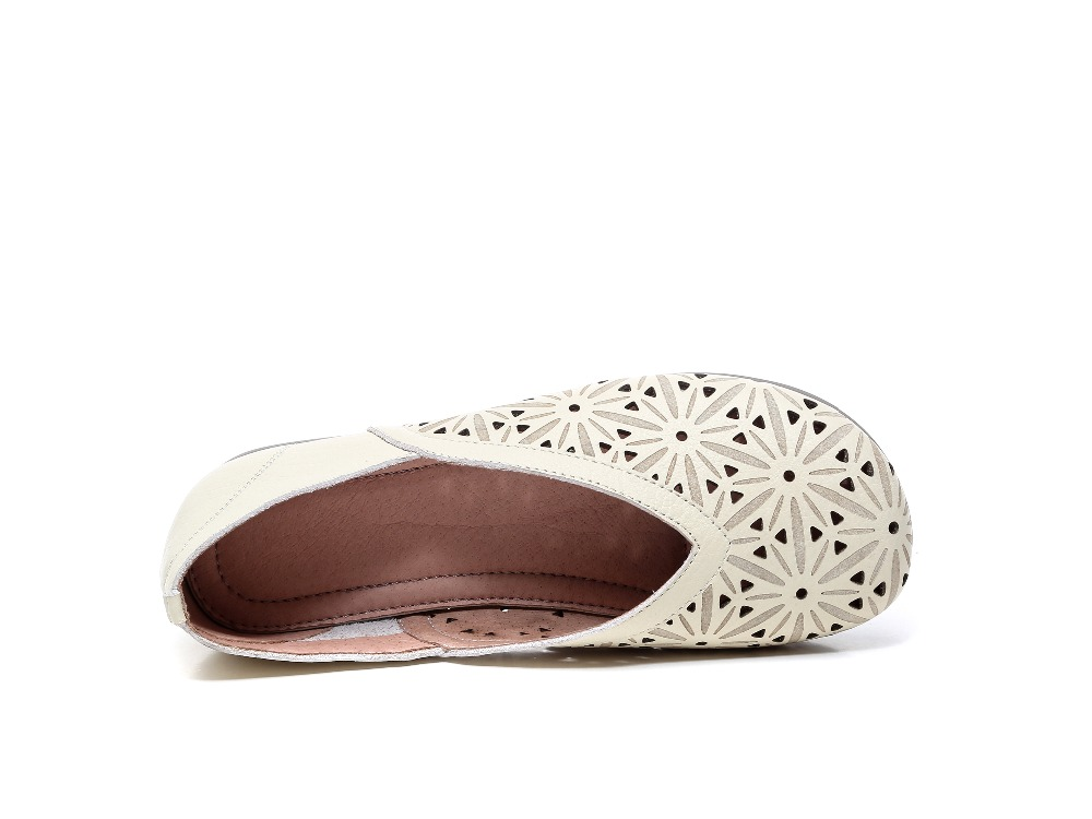 Un Main printemps La Une Nouveau Millésime Artiste Ronde Véritable Beige black Chaussures Pur Careaymade À Bottom De Et Confortable Femme Tête brown White En Avec Cuir qtwd6I6z