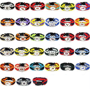 Bracelets Wristband Umbrella-Rope Emergency-Paracord Outdoor Hand-Strap Team Gift Football-N-F-L