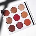 2017 Borgoña Maquiagem Maquillaje Cosméticos Paleta de Sombra de Brillo y resplandor de 9 Colores En 1 Mate Paleta de Sombra de ojos cosméticos