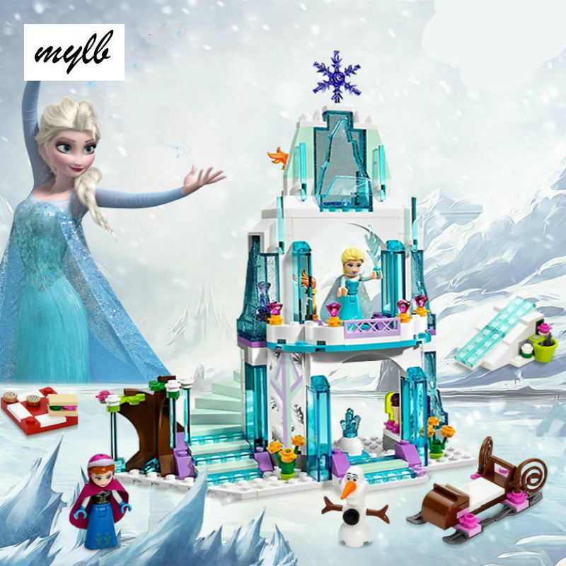 mylb Anna Elsa Snow Queen Elsa's Sparkling Ice Castle Building Toys Blocks Brick Compatible Friends with Toys drop shipping geoff johns green lantern by geoff johns omnibus volume 2