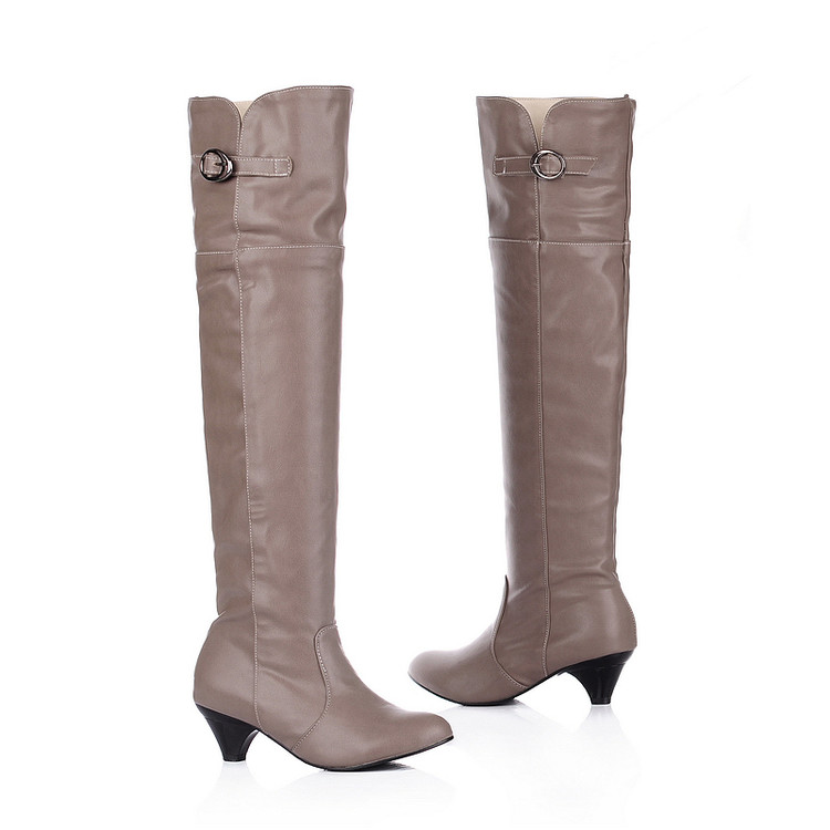 43 jaune gris Chaussures Botas Femmes Chaussure 905 Mujer Noir Femme Taille 34 Haute Masculina Bottes Style Cuisse Grande Femininas Botines BqRHqUI