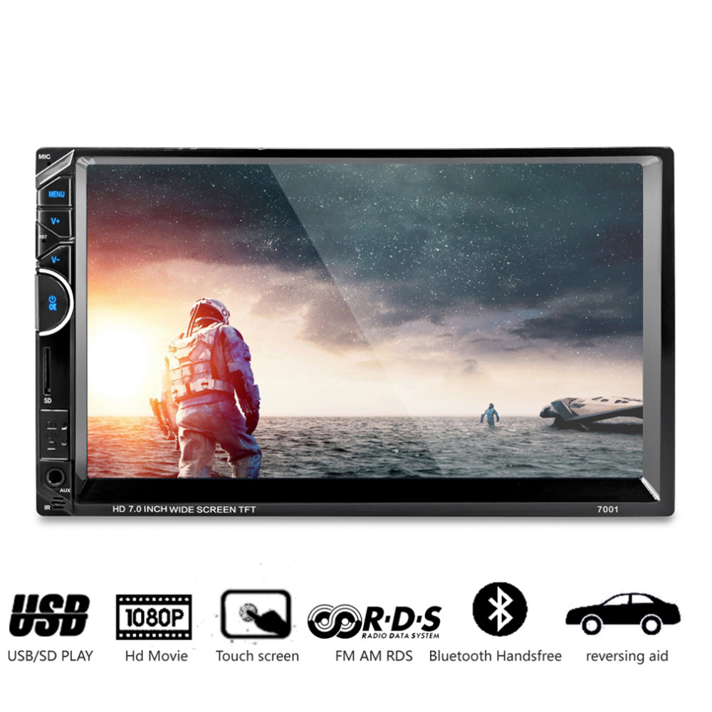 2 DIN 7 HD Car Radio Video MP4/MP5 Player radio FM/AUX/USB Touch Screen With AM + RDS Music Movie Player With Bluetooth 7inch 2 din hd car radio mp4 player with digital touch screen bluetooth usb tf fm dvr aux input support handsfree car charge gps