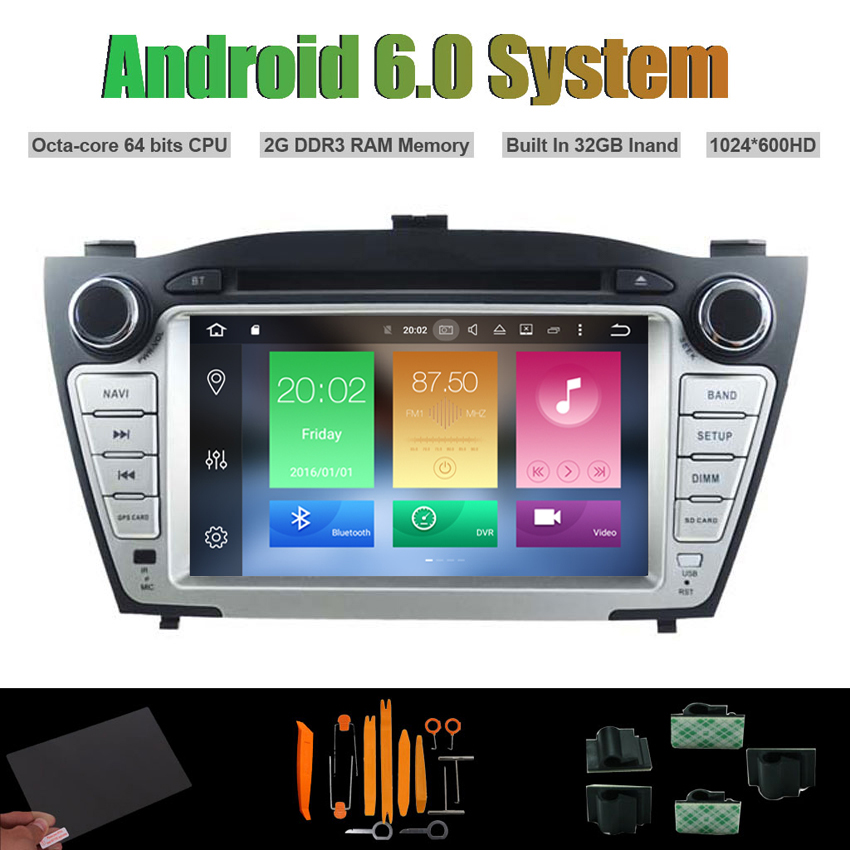android 6 0 octa core car dvd player for hyundai tucson. Black Bedroom Furniture Sets. Home Design Ideas