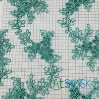5yards/lot Lace Wedding Dresses Flower Green Lace Ribbon Sewing Swiss Trim Lace Embroidery Clothes Accessories DHL Shipping