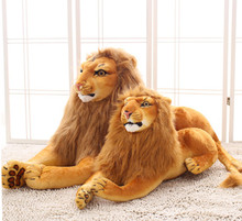 45cm/55cm/70cm simulation lion plush toy, lion king stuffed doll pillow toy