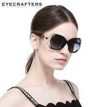 Luxury Brand Designer Sunglasses for Women Large oversized Women Gradient Polarized Sunglasses Female Fashion Eyewear Floral