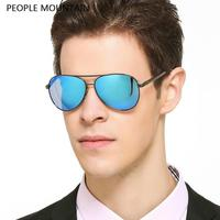 Newest Bright Color HD Polarized Pilot Sunglasses Men Driving Anti Glare Vintage Mirror Glasses Aluminum Magnesium Gafas De Sol