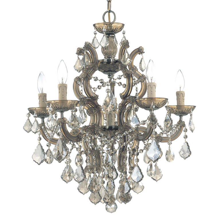 Classic Crystal Chandeliers Lights Modern Luxury Hanging Lamp LED Lamp  Cognac Cristal Glass Chandelier Light for Home Decor