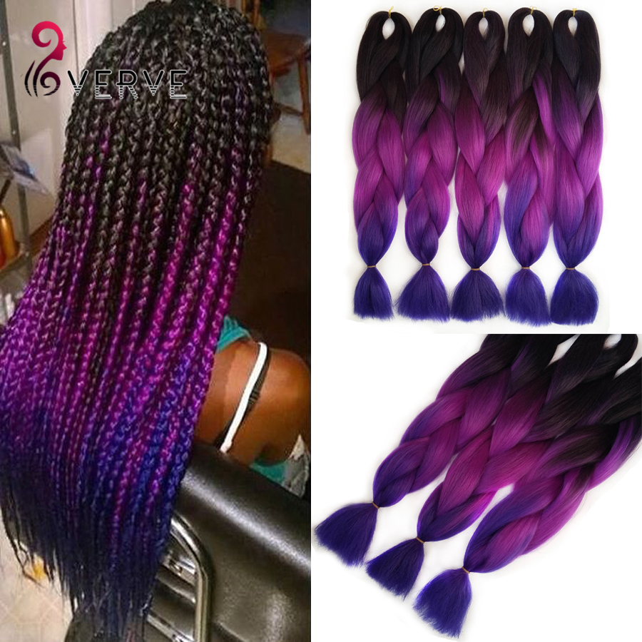 Popular Purple Braiding Hair-Buy Cheap Purple Braiding Hair lots from ...