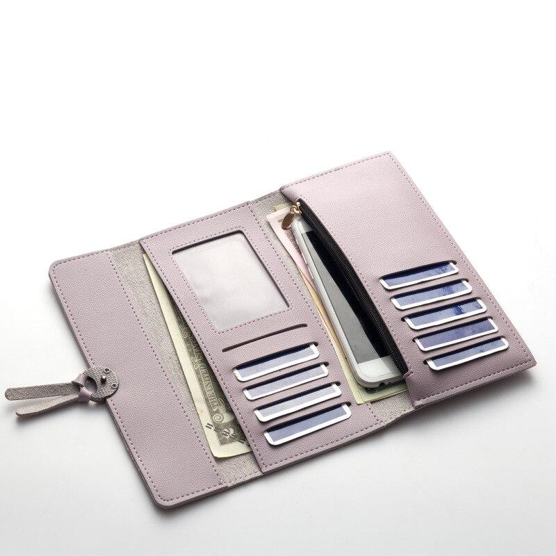 Для женщин s кошельки Для женщин мода кожаный бумажник для отдыха сцепления женская сумка Длинные кошельки Сумки Организатор Billeteras Muje