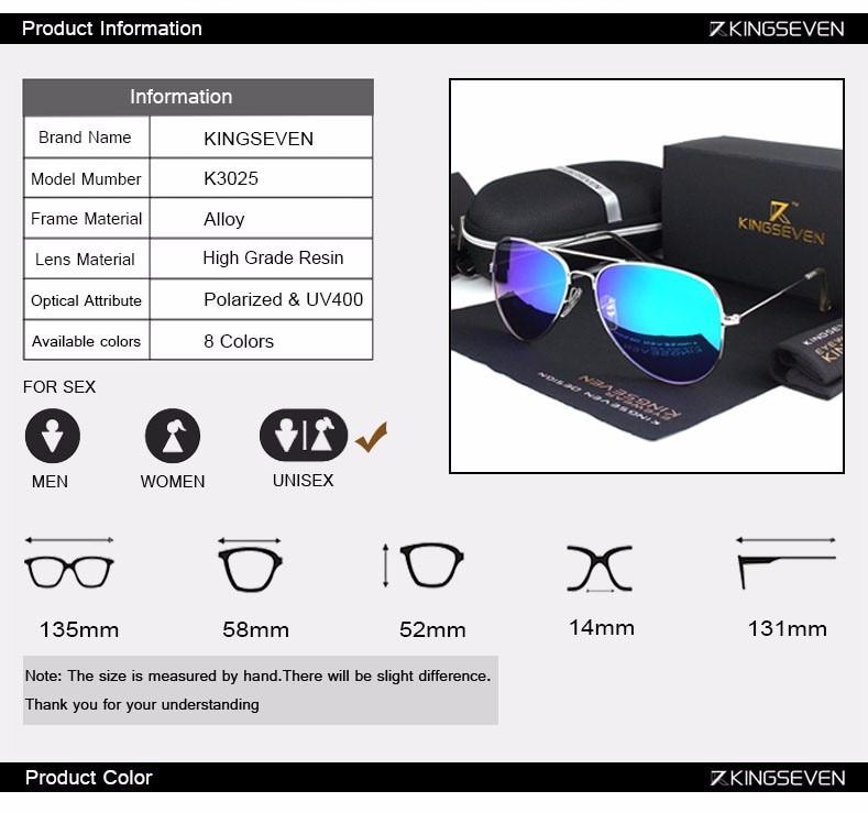 58mm Retro Sunglasses Women Kingseven Luxury Brand Female Sun glasses For Women 16 Fashion Oculos Designer Shades Unisex 3025 3