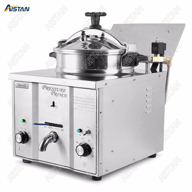 MDXZ16 counter table top pressure fryer electric commercial use stainless steel body potato chips fried