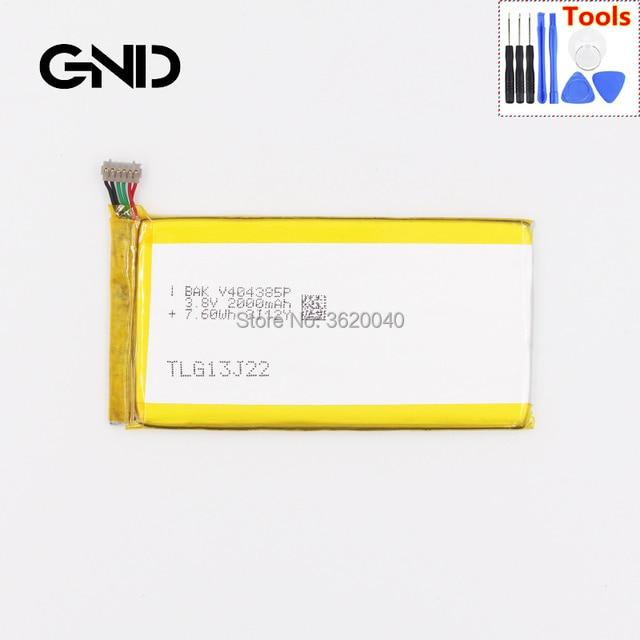 GND BAK V404385P Battery For BLU Life One X TLG13J22 L132  L133 WIKO DarkFull TLG13J24 explay dream bateria Li-Polymer Batterie