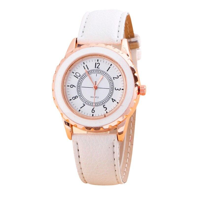 geneva watches s relogio feminino pu leather quartz