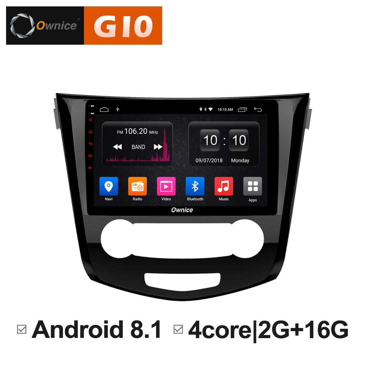 Android 8.1 Unit DVD Radio Multimedia Player for Nissan Qashqai X-Trail 2016 4G DAB+ TPMS