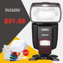Inseesi in-560iv in560iv inalámbrico speedlite de destello para canon nikon pentax panasonic cámaras como viltrox jy680a triopo tr-950
