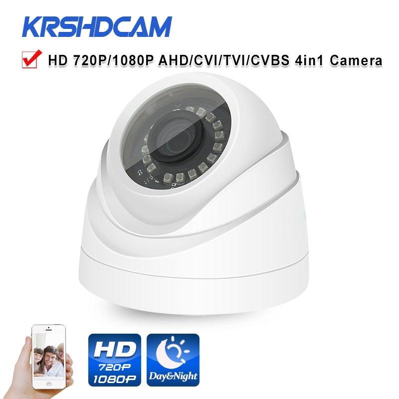 720P/1080P AHD Camera 4 in1 CCTV Security Camera plastic IR dome indoor Video Surveillance Night Vision cameras de seguranca new 4 in 1 cvi tvi ahd camera 1080p security surveillance indoor dome camera with ir cut filter night vision 1080p lens