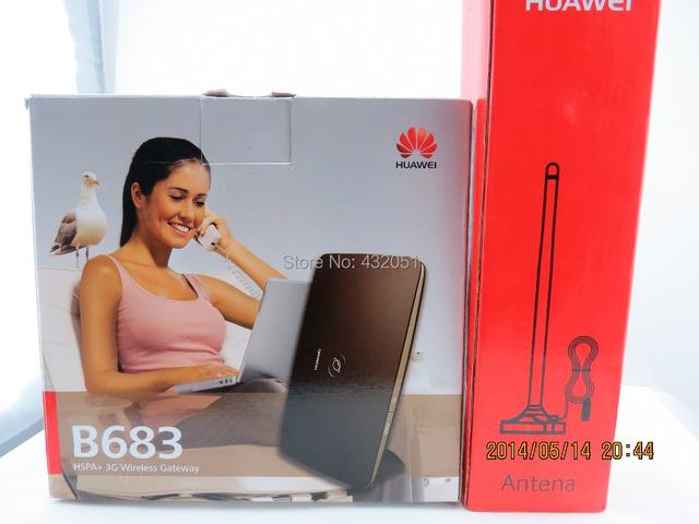 Frete grátis + Huawei SMA antena externa + Huawei B683 roteador sem fio 28 Mbps 3 G