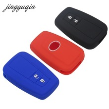 jingyuqin Skin Silicone Car Key fob Cover Protect for Toyota CHR C-HR 2017 Prius 2BTN Remote keyless Case Holder accessories