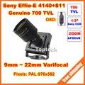 700 tvlines 960 h sony effio-e ccd 9-22mm varifocal lens menu osd mini câmera de cftv. frete Grátis