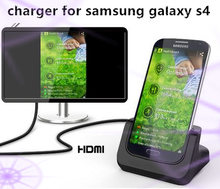 S4 HDMI Desktop Charging Cradle For Samsung Galaxy S4 Portable Docking Station With HDMI HDTV