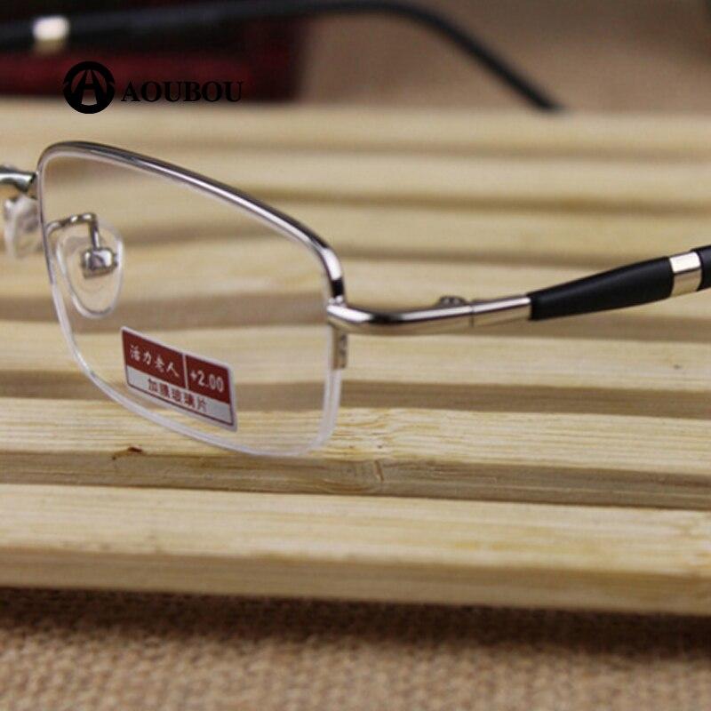 Vert film De Résine En Métal Demi-trame haute qualité lunettes de Lecture progressiva produto progressiva occhiali da vista uomo lettura
