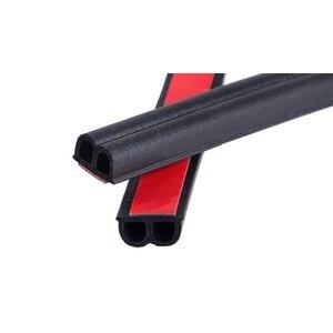 Image 3 - Çift D tipi kauçuk conta 25M su geçirmez ses yalıtımı araba kapı kauçuk conta Anti toz sızdırmazlık şeritleri araba Styling kapı contası