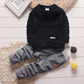 2016 Мода Осень Baby Boy Девушка Одежда С Длинным Рукавом + брюки 2 шт. Спортивный Костюм Комплект Одежды Младенца Новорожденного одежда