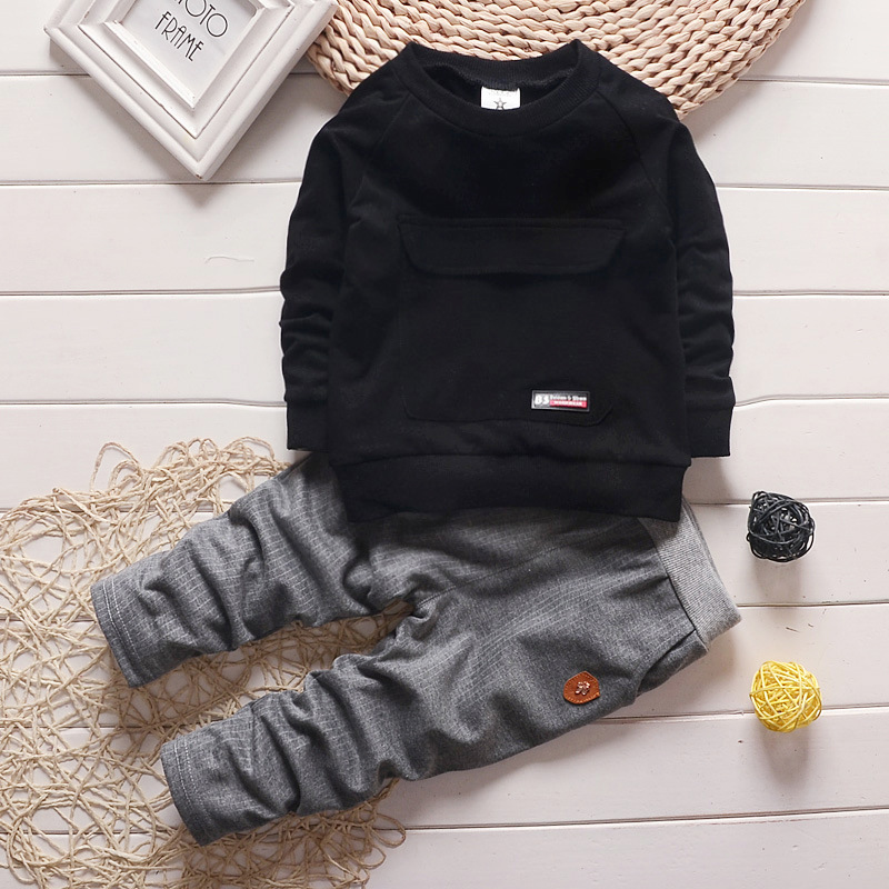 купить 2016 Fashion Autumn Baby Boy Girl Clothes Long Sleeve Top + Pants 2pcs Sport Suit Baby Clothing Set Newborn Infant Clothing онлайн
