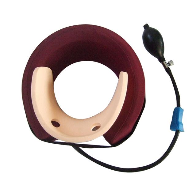 2017 New Arrival Colar Cervical Tração Vértebra Cervical Massagem Almofada de Ar inflável trator belt Brace