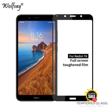 Full Glue Glass For Xiaomi Redmi 7A Tempered Screen Protector Phone Film <