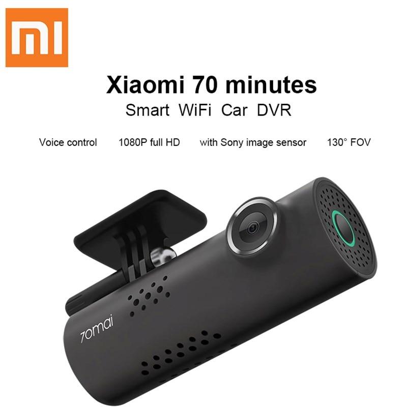 все цены на Xiaomi 70 Minutes WiFi Car DVR 1080P Full HD Car Camera 130 Degree 30fps Wireless DashCam Night Vision Driving Recorder Gsensor онлайн
