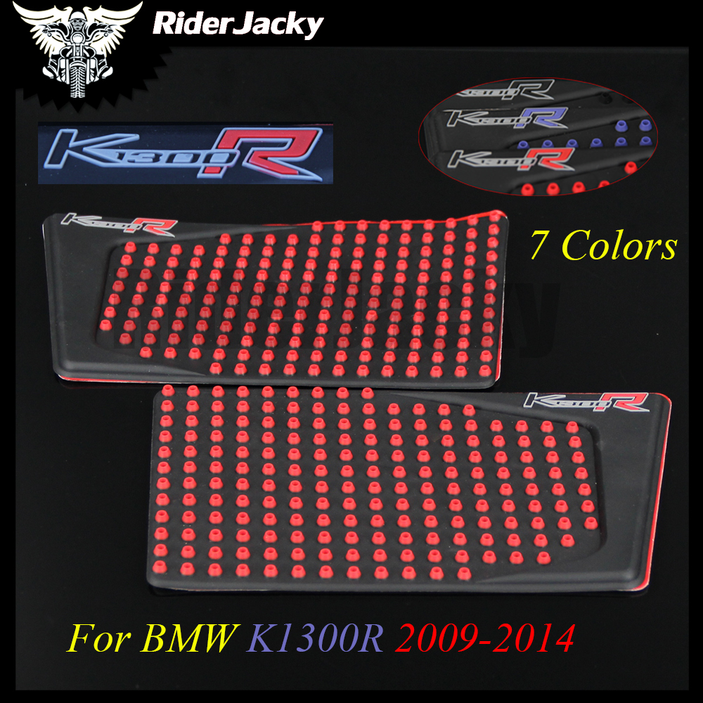 For BMW K1300R 2009-2014 2010 2011 2012 Motorcycle Tank Pad Protector Sticker Decal Gas Knee Grip Tank Traction Pad Side 3M bjmoto for yamaha yzf r25 r3 2013 2017 motorcycle tank pad protector sticker decal gas knee grip tank traction pad side black