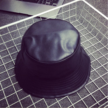 Street Style Leather Bucket Hat