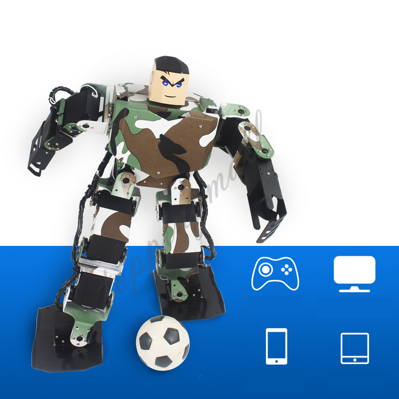 Soldier King 16DOF Smart Humanoid Robot Frame Contest Dance Biped Robotics for DIY new 17 degrees of freedom humanoid biped robot teaching and research biped robot platform model no electronic control system