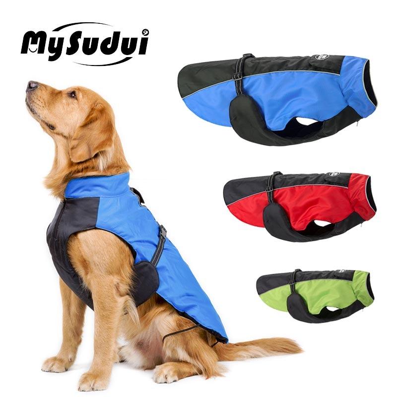 MySudui Large Dog Coats Jackets Winter Fur Waterproof Warm Dog Jacket Winter Big Medium Cloth Dog Clothes Large Ropa Para Perro