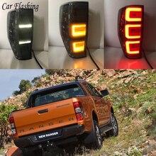 Światła tylne samochodu dla Ford Ranger 2.2 Ranger 3.2 2015 2016 2017 2018 tylne światła LED DRL światła do jazdy światła przeciwmgielne anielskie oczy z tyłu