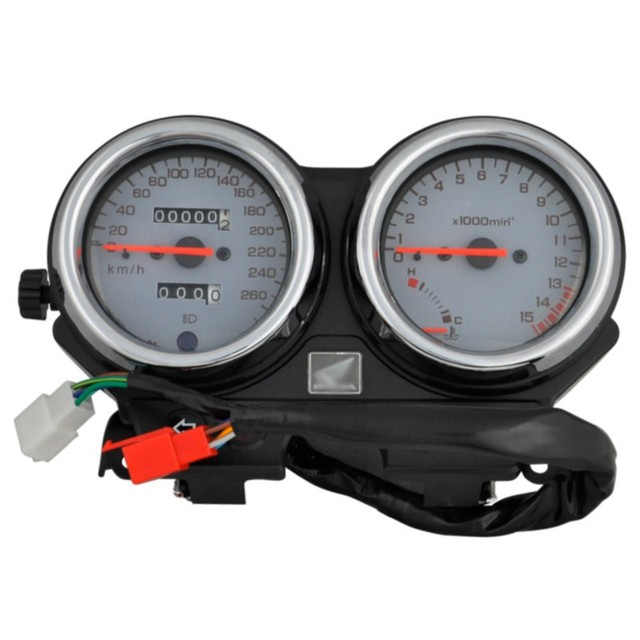 Motorcycle Gauges Cluster Speedometer For Honda CB600 Hornet600 1996 1997 1998 1999 2000 2001 2002 White Gauge Instrument NEW