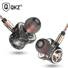 QKZ KD6 In Ear Earphone With Microphone 6 Dynamic Driver Unit Headsets Stereo Sports HIFI Subwoofer Earphones Monitor Earbuds new xduoo ep1 stereo in ear earphone dynamic driver headset noise cancelling headphone hifi subwoofer music mobile earphones