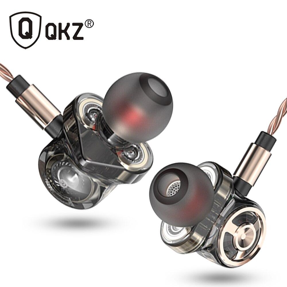 QKZ CK10 dans l'oreille écouteur avec Microphone 6 dynamique pilote unité casques stéréo sport HIFI Subwoofer écouteurs moniteur écouteurs