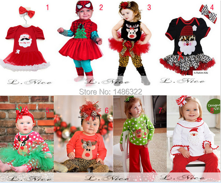 f4ea7af51a Baby Girl Little Elves Collection Ornament Tunic Skirt Christmas Set New  Tutu Dress Skirt + Pants Leggings Outfit-in Clothing Sets from Mother   Kids  on ...